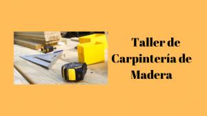 taller de carpintería de madera
